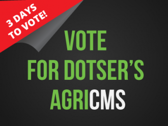 Vote Now - Dotser's AgriCMS into the last 25 at the Innovation Arena Awards