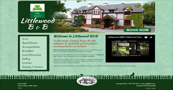 Bed and Breakfast Web Design