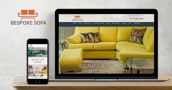 High end design, product photography and branding for Bespoke Sofa